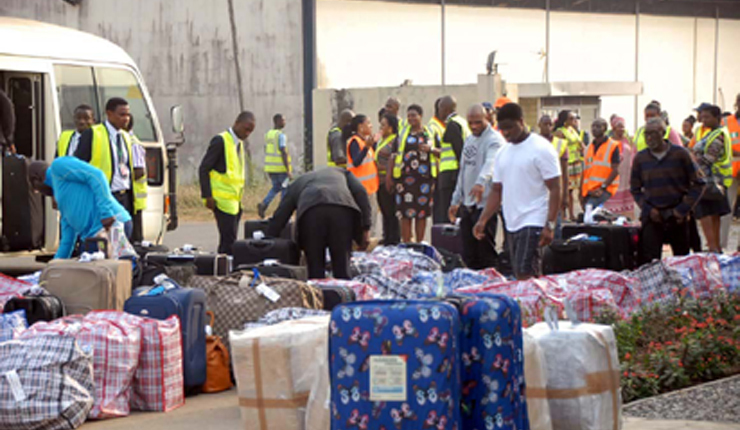 41 Nigerians sent home by UK arrive Lagos airport