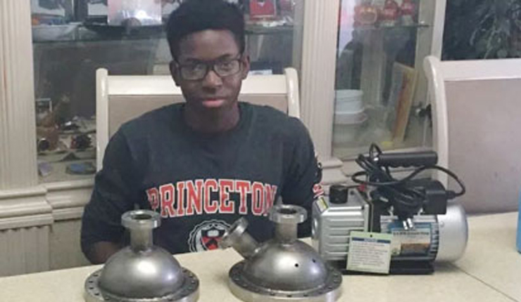 Nigerian wizkid, Udotong, first black student to build nuclear fusor